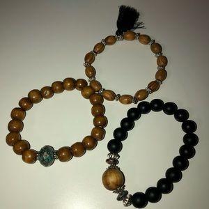 Jewelry - 3 PIECE WOODEN BRACELET